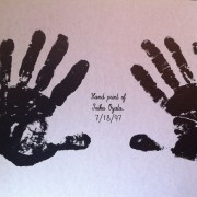 Hand Print of Taika Oyata    July-18-1997                   17'X11′       $10.